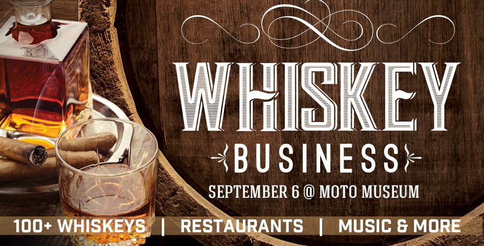Whiskey Business // Dozens of Whiskies // Hand Passed Hors d'oeuvres // Music + More Tickets | The Moto Museum | St. Louis, MO | Fri, Sep 6 at 7pm | Riverfront Times Tickets
